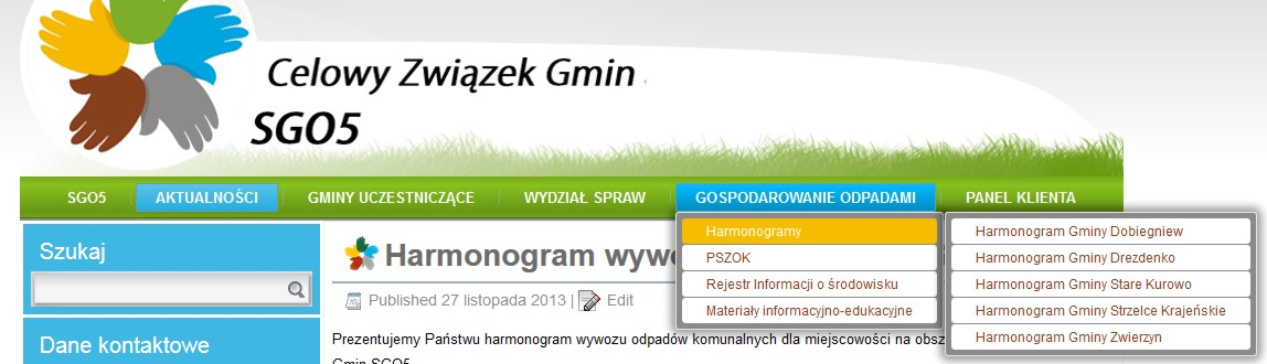 harmonogram_menu